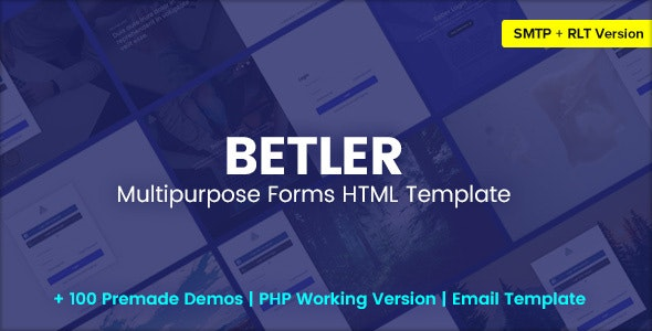 Betler v1.0 - Multipurpose Forms HTML Template Product Image