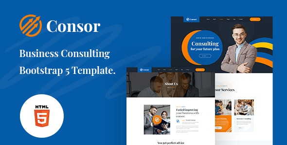 Consor v1.0 - Business Consulting Bootstrap 5 Template Product Image
