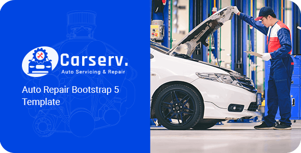 Carserv v1.0 - Auto Repair Bootstrap 5 Template Product Image