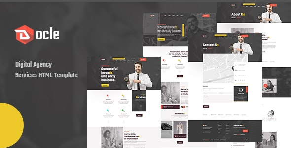 Docle v1.0 - Agency Services HTML Template Product Image