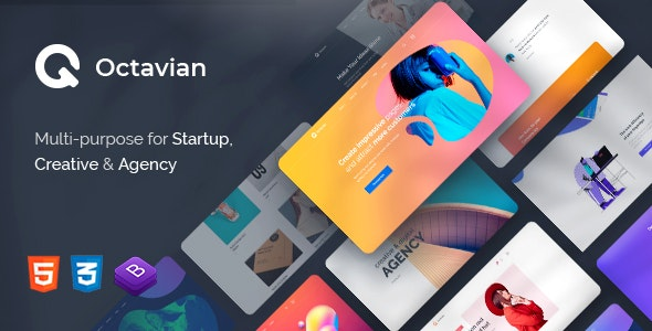 Octavian v1.0 - Multipurpose Creative HTML5 Template Product Image