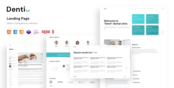 Denti v1.0 - Landing page HTML Template Product Image