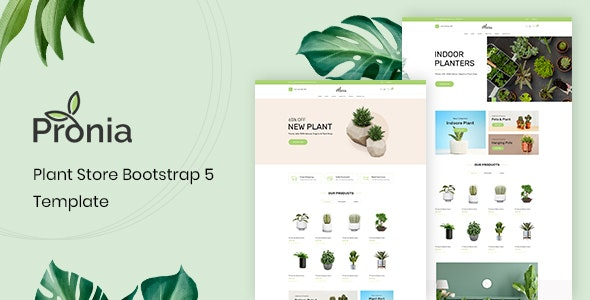 Pronia v1.0.1 - Plant Store Bootstrap 5 Template Product Image