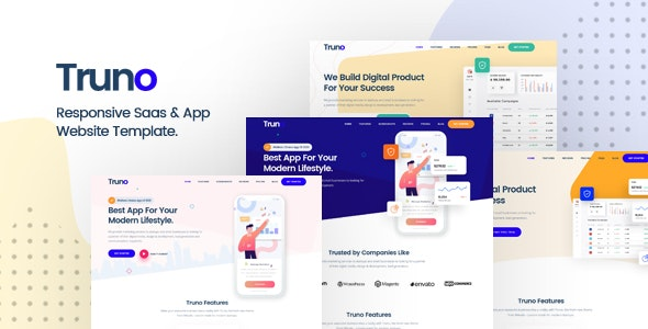 Truno v1.0 - Multipurpose HTML5 Template for Saas and Startup Agency Product Image
