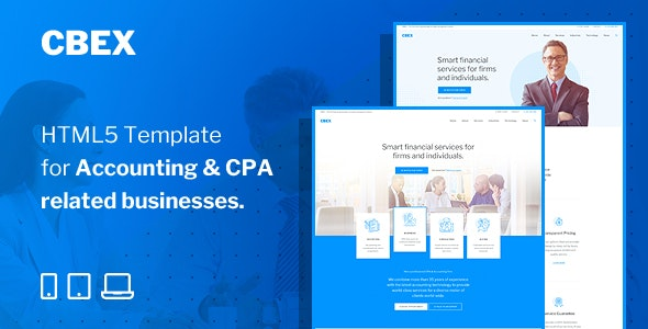 CBEX v1.0 – Responsive CPA, Tax and Accounting HTML5 Template Product Image