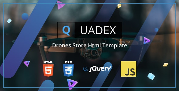 Quadex v1.0 - Drones Store Html Template Product Image