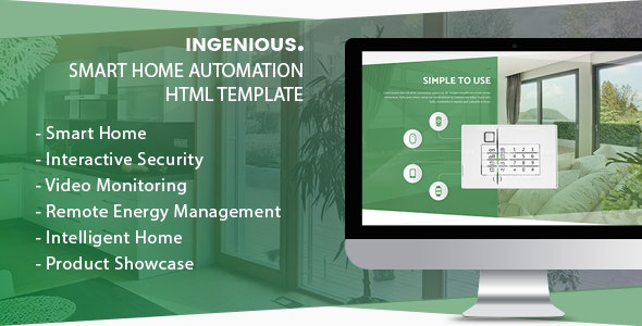 Ingenious v1.0 - Smart Home Automation HTML Template Product Image
