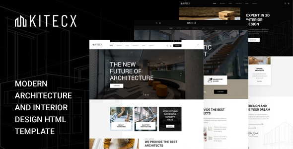 Kitecx v1.0 - Architecture & Interior HTML Template Product Image