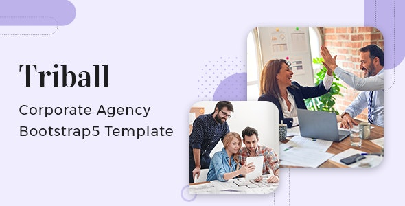 Triball v1.0 - Corporate Agency Bootstrap 5 Template Product Image