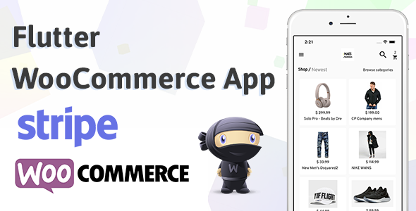 Flutter WooCommerce App Label StoreMax For IOS and Android Stripe Product Image