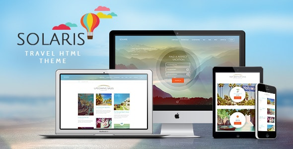 Solaris v1.0 - Travel Agency Site Template preview image