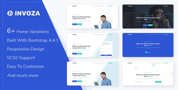 Invoza v1.0.0 - Responsive Landing Page Template preview image