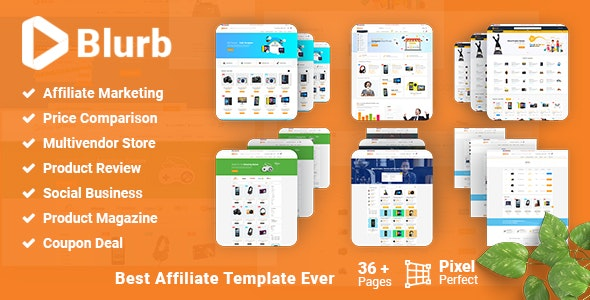 Blurb - Price Comparison with Review base Multivendor Coupon Theme preview image