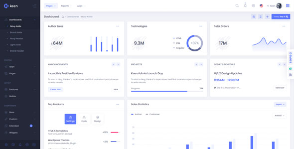 Keen v1.4.2 – The Ultimate Bootstrap Admin Theme preview image