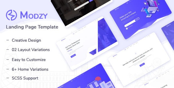 Modzy v1.0 - Landing Page Template preview image