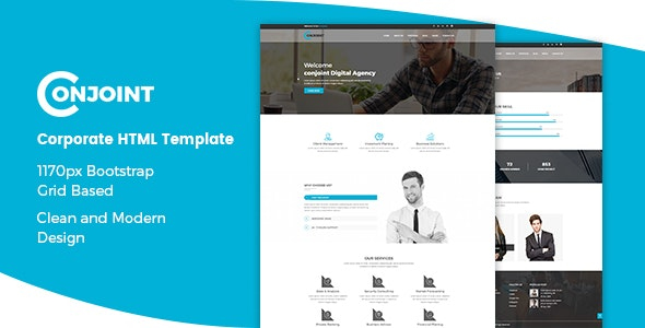 Conjoint - Corporate HTML Template preview image