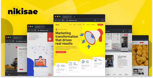 Nikisae v1.0 - Digital Marketing Agency HTML Template preview image