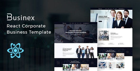 Businex v1.0.1 - React Corporate Business Template preview image