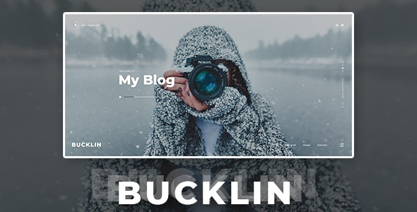 Bucklin v1.0 - Creative Personal Blog HTML Template preview image
