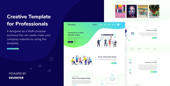 Coagex v1.0 - Creative Agency Template preview image