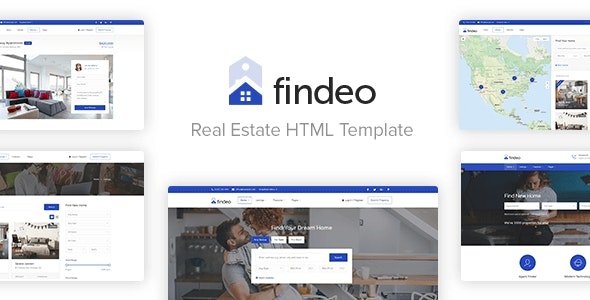 Findeo - Real Estate HTML Template preview image