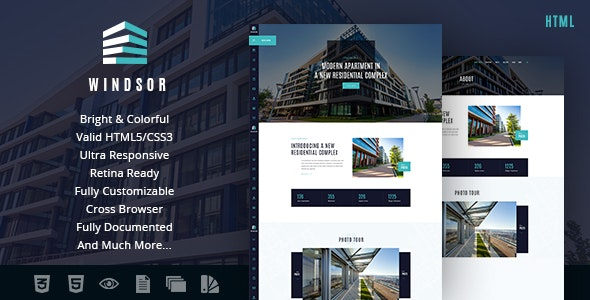 Windsor v1.0 - Apartment Complex / Single Property Site Template preview image