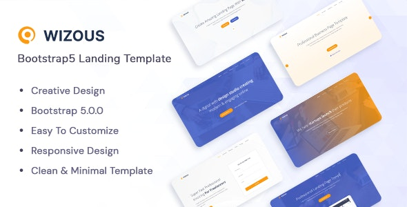 Wizous v1.0 - Bootstrap 5 Landing page Template preview image