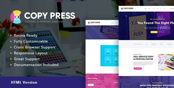 CopyPress v1.1 - Type Design & Printing Services HTML Template preview image
