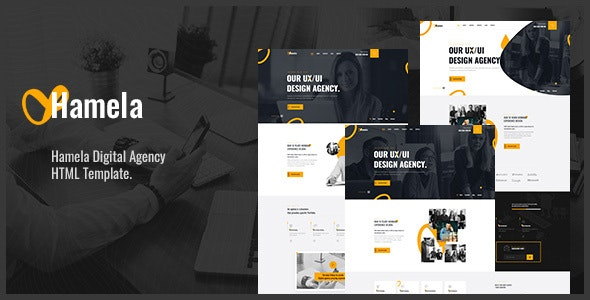 Hamela v1.0 - Digital Agency Services HTML Template Product Image