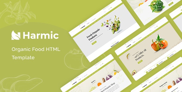 Harmic v1.0.1 - Organic Food HTML Template preview image