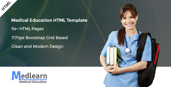 Medlearn - Medical Education HTML Template preview image