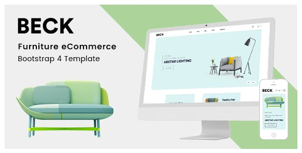 Beck v1.0 - Furniture eCommerce Bootstrap 4 Template preview image