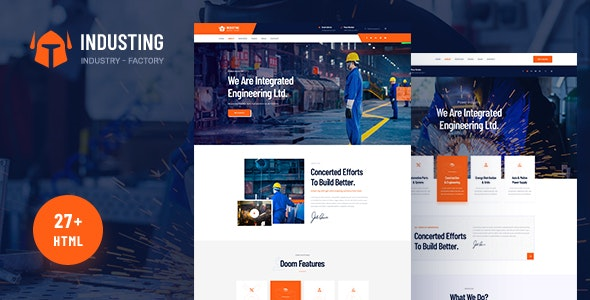 Industing v1.0 - Industry & Factory Business HTML5 Template preview image
