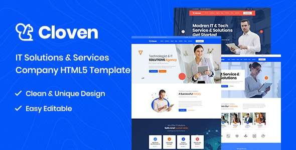 Cloven v1.0 - IT Solutions And Services Company HTML5 Template preview image