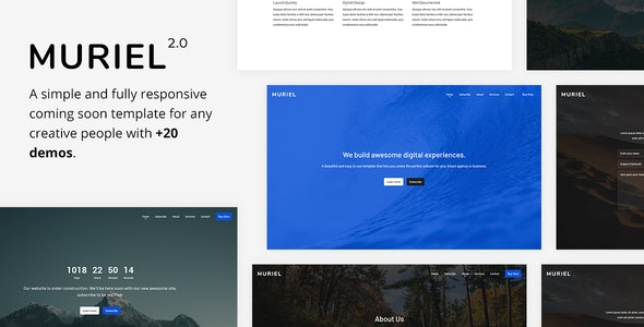 Muriel v2.0 - Responsive Coming Soon Template preview image