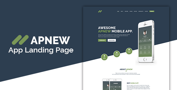 Apnew - Multipurpose Landing Page Template preview image