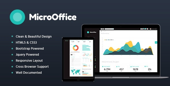 Micro Office v1.2 - HTML Admin Template preview image