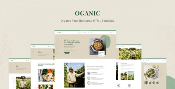 Oganic v1.0 - Organic Food Bootstrap HTML Template preview image
