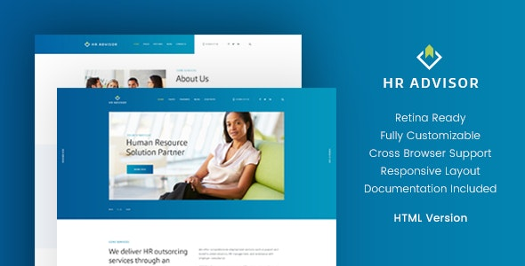 HR Advisor & Business Consulting HTML Template v1.1 preview image