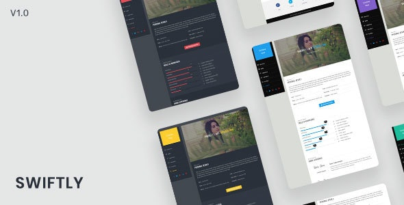 Swiftly v1.0.0 - Personal & Portfolio Template preview image