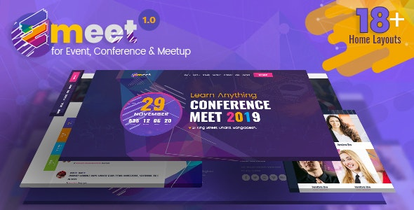Emeet v1.0 - Event HTML, Conference and Meetup preview image