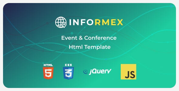 Informex v1.0.0 - Conference & Business Html Template preview image