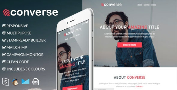 Converse v1.0 - Responsive Email Template preview image