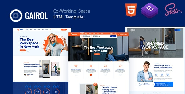 Gairol v1.0 - Coworking Space HTML5 Template preview image