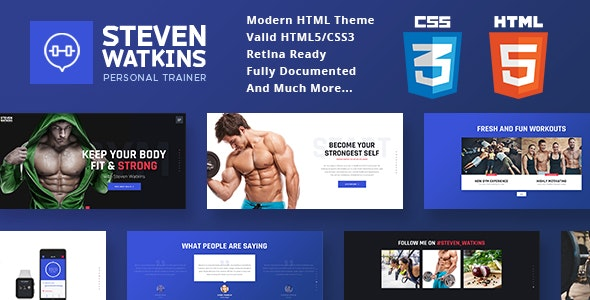 Personal Gym Trainer & Nutrition Coach v1.0 - Site Template preview image