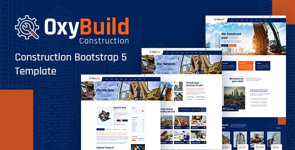 OxyBuild v1.0 - Construction Bootstrap 5 Template preview image
