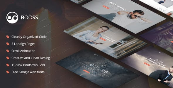 Booss v1.0 - Creative Multipurpose Marketing Landing Page preview image