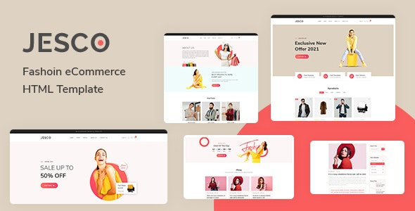 Jesco v1.0 - Fashion eCommerce HTML Template preview image