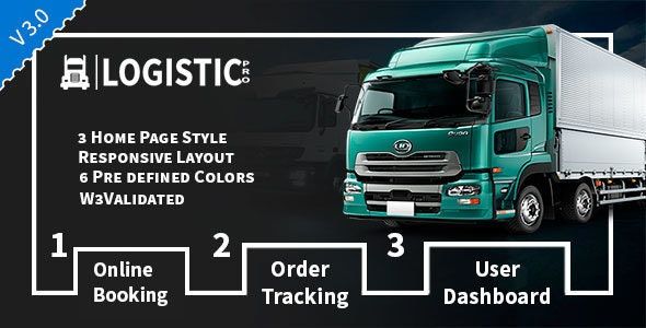 Logistic Pro v3.0 - Transport - Cargo - Online Tracking - Booking & Logistics Services preview image