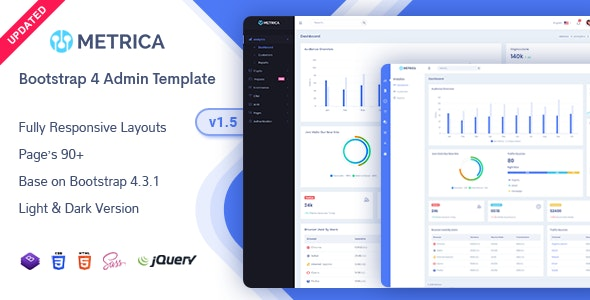 Metrica v1.5 - Admin & Dashboard Template preview image
